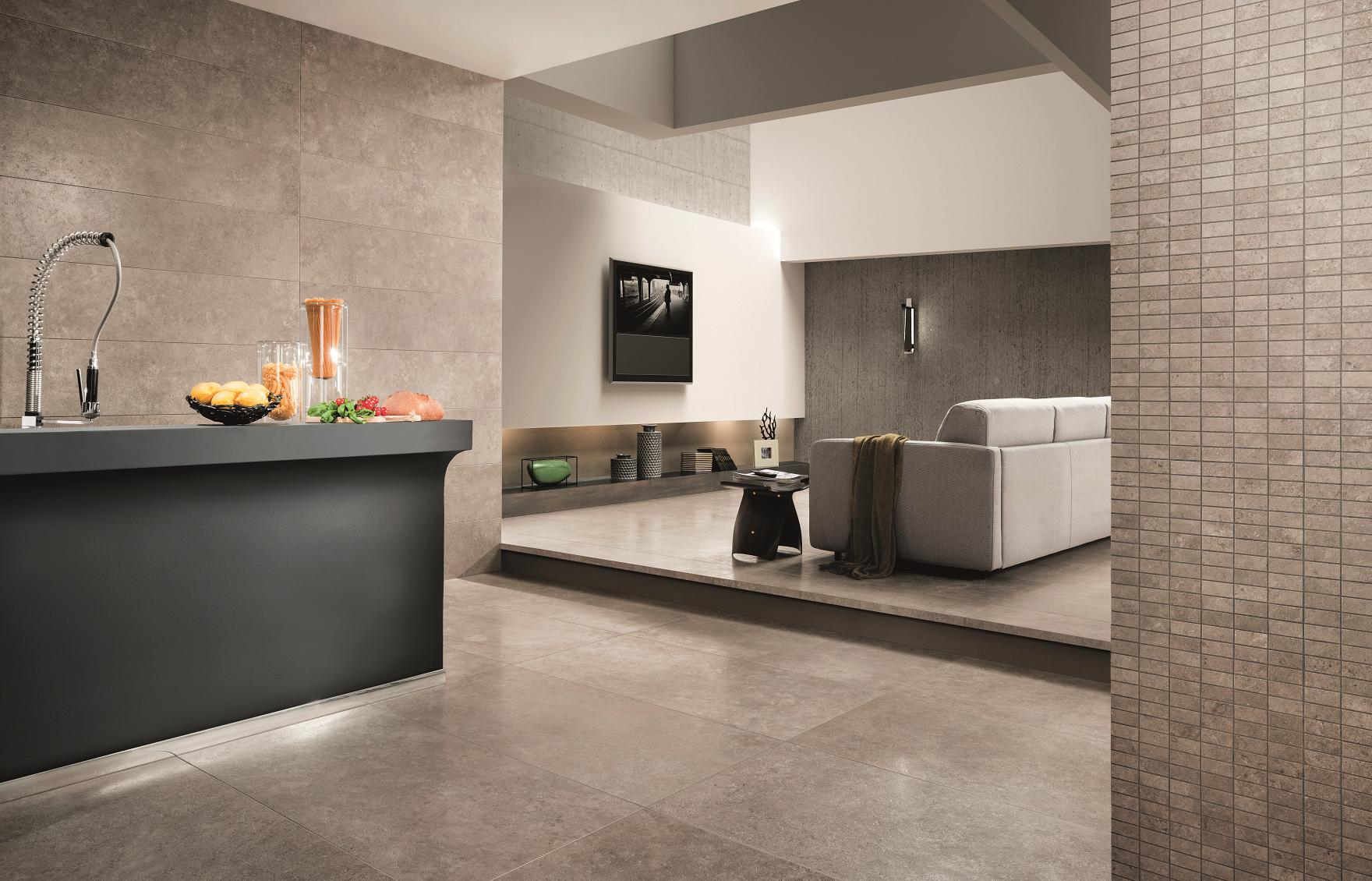 Type vloertegels keramische vloertegels tribeca 45x90 - Bruine en beige badkamer ...